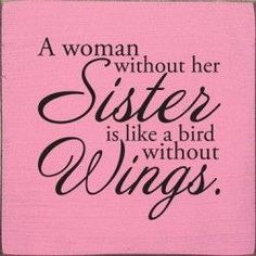 I don't fully understand this quote, but I definitely agree that there are similarities between sisters and birds without wings (flightless birds).